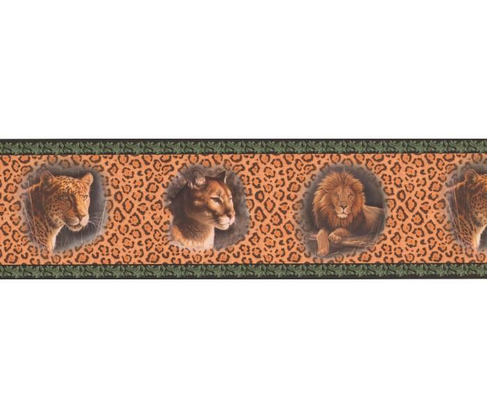 Jungle Wallpaper Borders: Black Cheetah Animal Wallpaper Border