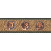 Clearance: Framed Red Panthers Wallpaper Border