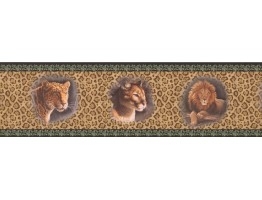 Prepasted Wallpaper Borders - Framed Red Panthers Wall Paper Border