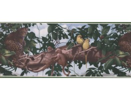 Prepasted Wallpaper Borders - Panther on Tree Wall Paper Border