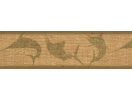 Prepasted Wallpaper Borders - Green Faux Basket Weave Wall Paper Border