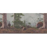 Country Borders Brown Rainforest Scenery Turkeys Wallpaper Border York Wallcoverings