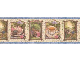 Prepasted Wallpaper Borders - Holly Pond Roses Wall Paper Border