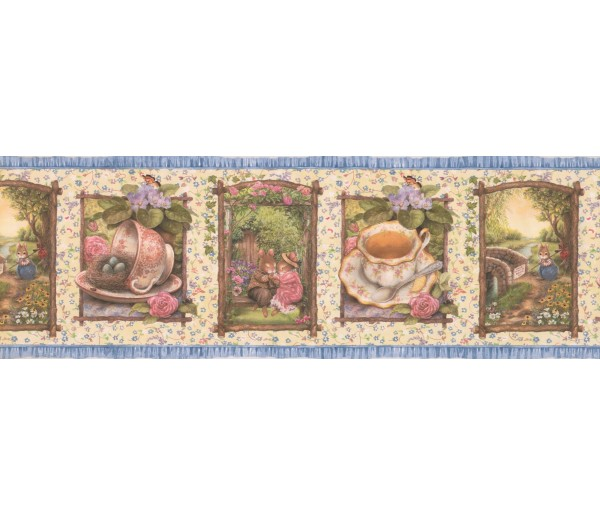 Clearance: Holly Pond Roses Wallpaper Border