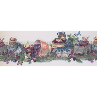 7 in x 15 ft Prepasted Wallpaper Borders - Garden Wall Paper Border 30271 HH