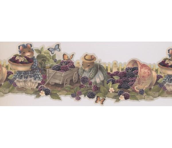 Garden Wallpaper Borders: Green Ratinhos Wallpaper Border