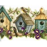 Bird Houses Blue Bird Houses Wallpaper Border York Wallcoverings