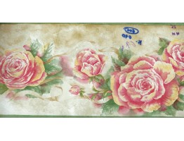 7 in x 15 ft Prepasted Wallpaper Borders - Floral Roses Wall Paper Border 530923HHB