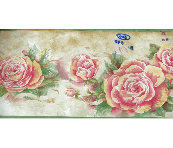Floral Wallpaper Borders: Floral Roses Wallpaper Border 530923HHB