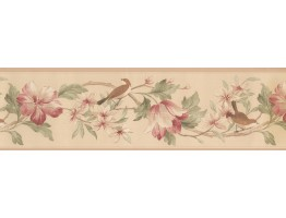 7 in x 15 ft Prepasted Wallpaper Borders - Norwall Fresh Country Single Rolls Wall Paper Border