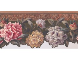 Hand Painted Floral Wallpaper Border