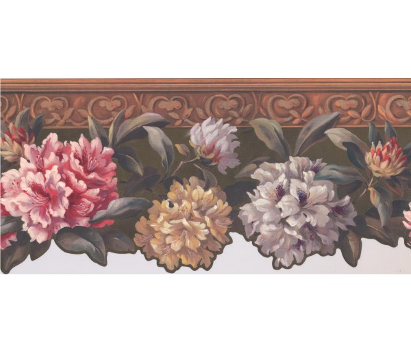 Floral Wallpaper Borders: Hand Painted Floral Wallpaper Border