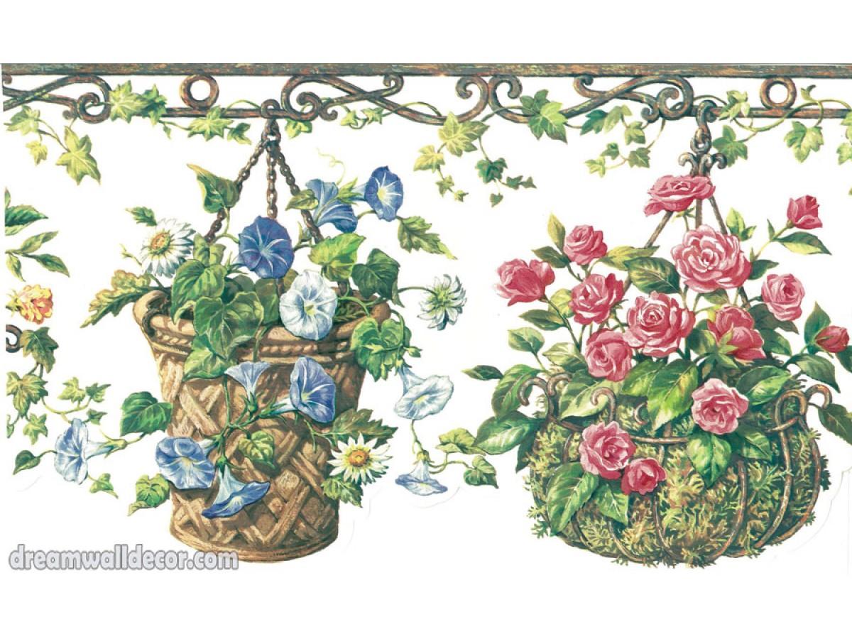 garden borders 4070 hrb floral wallpaper border