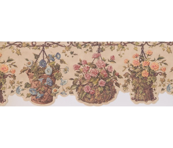 Garden Borders 4078 HRB Floral Wallpaper Border York Wallcoverings