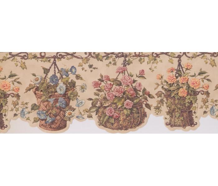 Garden Wallpaper Borders: 4078 HRB Floral Wallpaper Border
