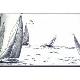 Sea World Borders Sail Boats  Wallpaper Border York Wallcoverings