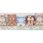 Prepasted Wallpaper Borders - Kids Sleeping Toys Wall Paper Border IB9948