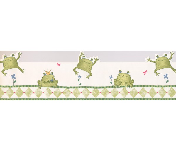 Disney Wallpaper Borders: Kids Jumping Frogs Wallpaper Border
