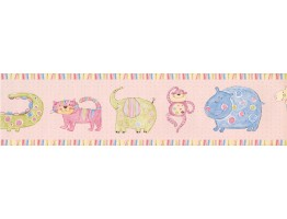 Prepasted Wallpaper Borders - Kids Lion Paint Wall Paper Border