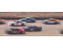Prepasted Wallpaper Borders - Nascar Car Race Wall Paper Border