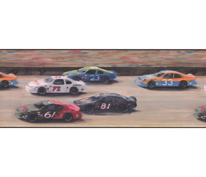 Boys Wallpaper Borders: Nascar Car Race Wallpaper Border