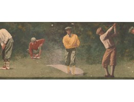 10 in x 15 ft Prepasted Wallpaper Borders - Golf Course Wall Paper Border
