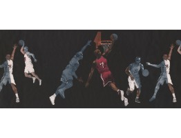 10 in x 15 ft Prepasted Wallpaper Borders - Sport Basketball Wall Paper Border 2662IN