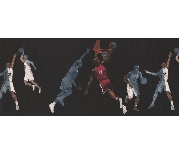 Basketball Wallpaper Borders: Sport Basketball Wallpaper Border 2662IN