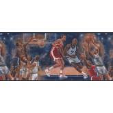 Basketball Drawn Basket Ball Wallpaper Border York Wallcoverings