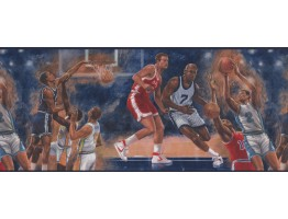 Prepasted Wallpaper Borders - Drawn Basket Ball Wall Paper Border