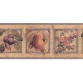 Garden Wallpaper Borders: Framed Flowers Fruits on Paper Wallpaper Border