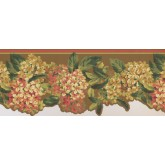 Floral Wallpaper Borders: Green Tiny Flower Bunch Wallpaper Border