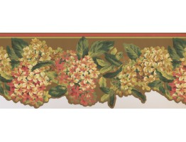 Prepasted Wallpaper Borders - Green Tiny Flower Bunch Wall Paper Border