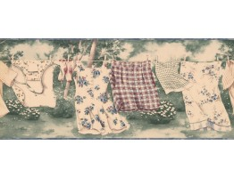 Prepasted Wallpaper Borders - Hanging Skirt Shorts Wall Paper Border
