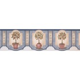 Garden Wallpaper Borders: Twin Orange Plant Chart Wallpaper Border