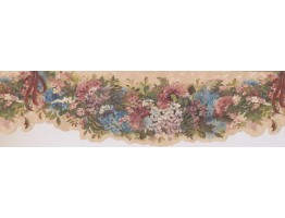 Prepasted Wallpaper Borders - Multi Little Lily Wall Paper Border