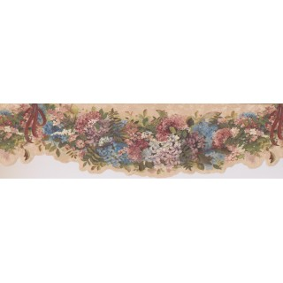 7 in x 15 ft Prepasted Wallpaper Borders - Multi Little Lily Wall Paper Border