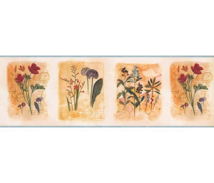 Garden Wallpaper Borders: Framed Gardened Plants Wallpaper Border
