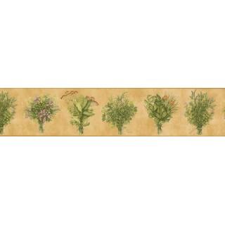 5 in x 15 ft Prepasted Wallpaper Borders - Flower Plant bokeh Wall Paper Border