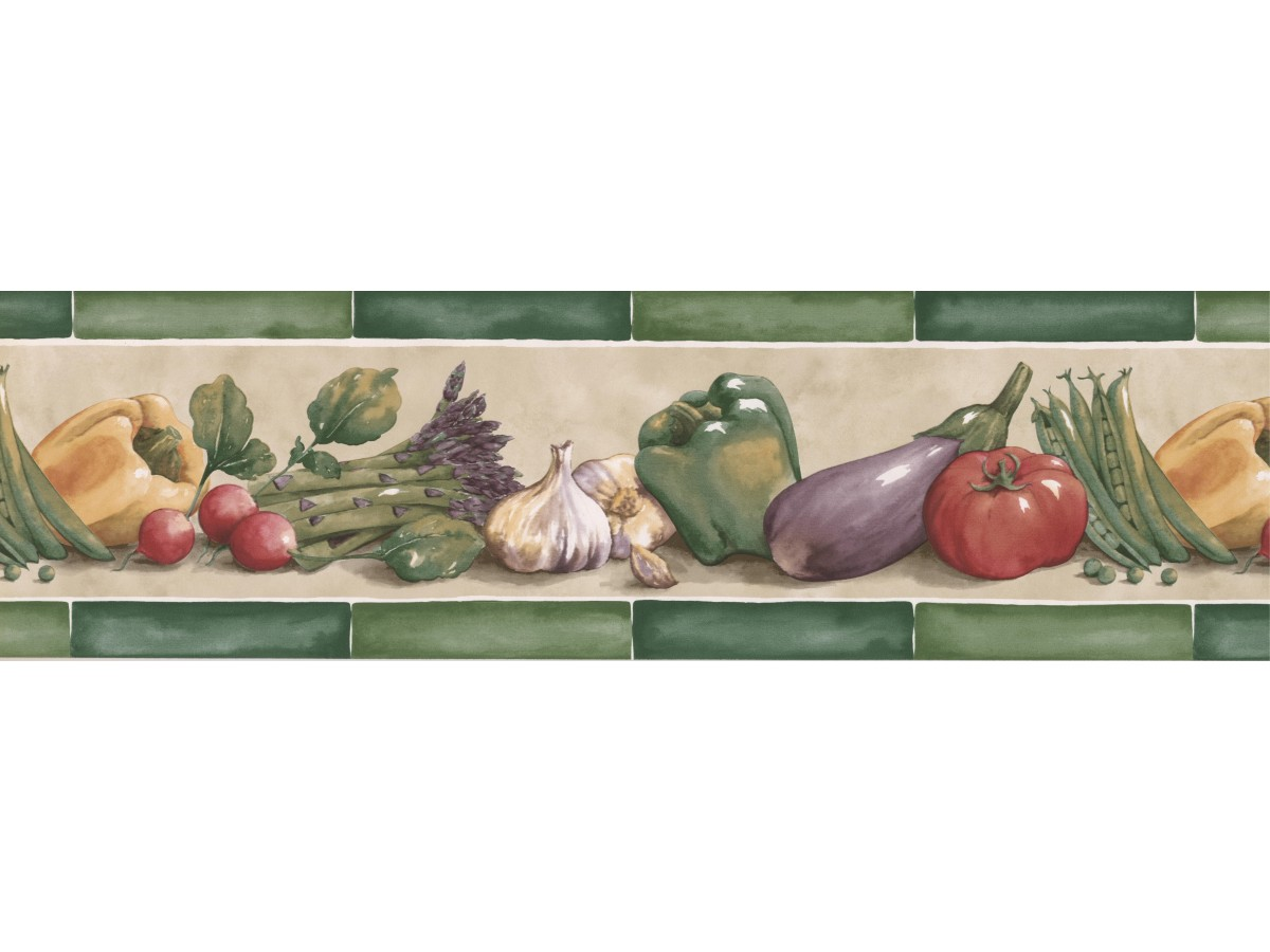 Kitchen Wallpaper Borders Vegetables Wallpaper Border