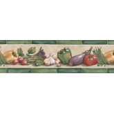 Clearance: Vegetables Wallpaper Border KE30070