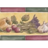 Garden Wallpaper Borders: Green Red Yellow Vegetables Wallpaper Border