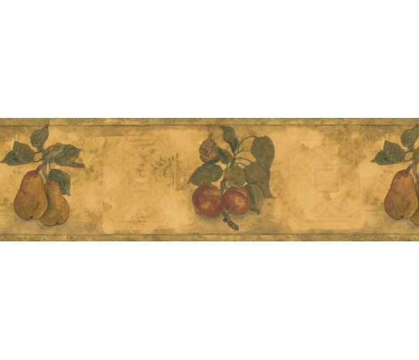Clearance: Red Peach Plant Wallpaper Border