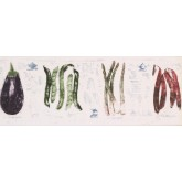 Clearance: White Eggplant Beans Wallpaper Border