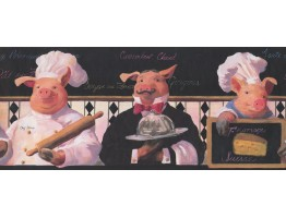 Piggy Restaurant Wallpaper Border