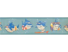 Prepasted Wallpaper Borders - Fish Wall Paper Border KJ0315