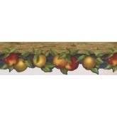 Garden Wallpaper Borders: Yellow Fresh Apples Wallpaper Border