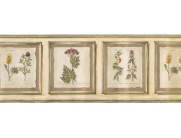 Prepasted Wallpaper Borders - Frame Garden Flowers Wall Paper Border