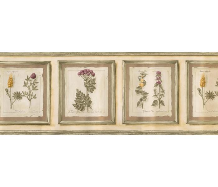 Garden Wallpaper Borders: Frame Garden Flowers Wallpaper Border
