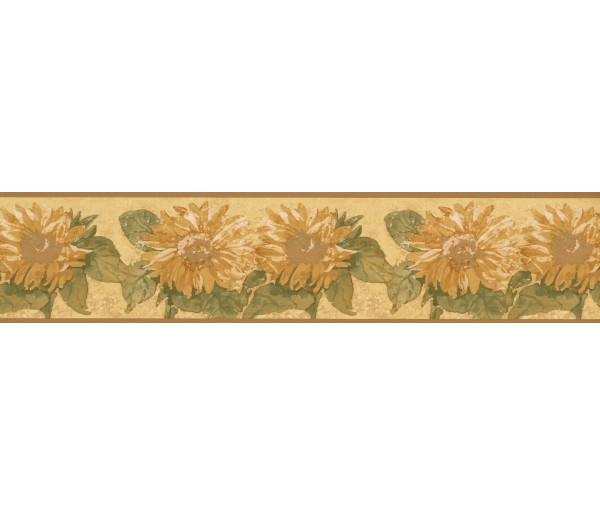 Sunflower Wallpaper Borders: Yellow Background Sunflower Wallpaper Border